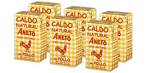 Aneto 100% Natural - Caldo de Pollo - caja de 6 unidades de 1 litro