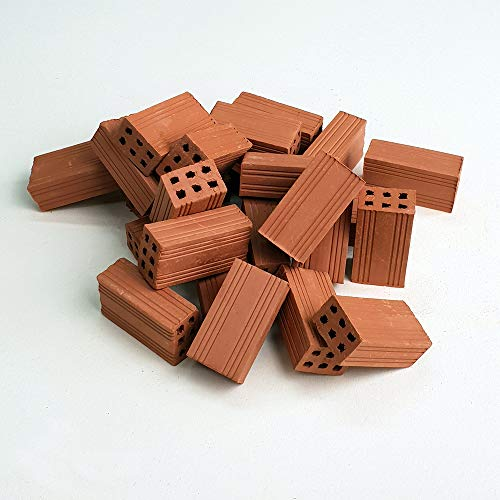 Ladrillos en Miniatura. Ladrillo hueco doble rojo 30 Mm. (160u.)