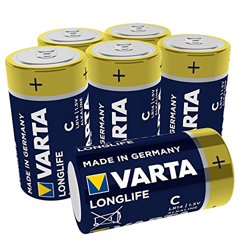 Varta Longlife, Pilas Alcalinas C / Baby / Lr14, C, Amarillo