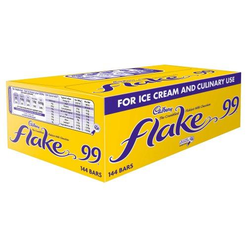 Cabury - Barra Individual Flake 99 (Paquete de 144)