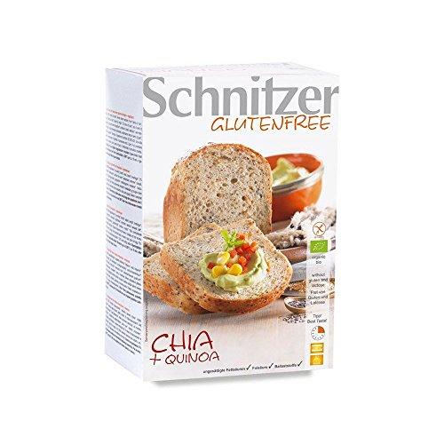 Pan con Chía y Harina de Quinoa Sin Gluten Ecológico Schnitzer (2x250g)