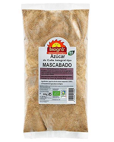 Biográ Azucar Caña Mascabado 500G Biogra Bio Biográ 100 g