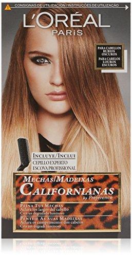 L'Oreal Paris Preference Mechas Californianas - Tinte, color rubio oscuro, 5 piezas, 200 gr