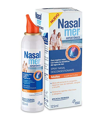 Nasalmer Adultos - Spray Congestión Nasal 100% Agua de Mar - 125 ml