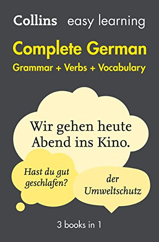 Easy Learning German Complete Grammar, Verbs and Vocabulary (3 books in 1): Trusted support for learning (Collins Easy Learning)