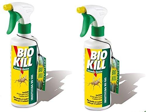 Bio Kill–Insecticida spray Formula Classic 2paquetes de 500ml  eficaz contra todos los insectos a sangre fría  Spray  contra moscas  antiácaros  hormigas  cucarachas  mosquitos
