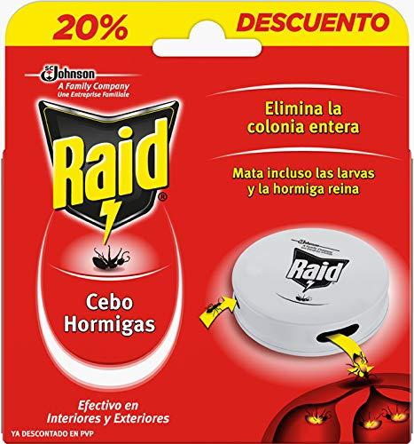 Raid  Cebos - Trampa antihormigas, elimina la colonia de hormigas entera, efectivo en Interiores y Exteriores