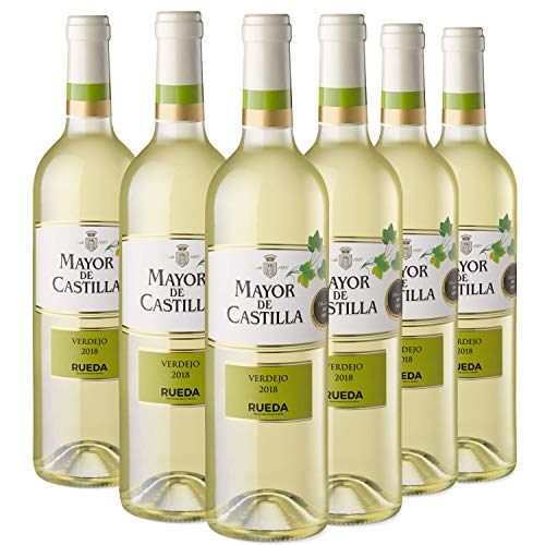 Mayor de Castilla Verdejo - Vino Blanco D.O Rueda, Pack de 6 Botellas x 750 ml