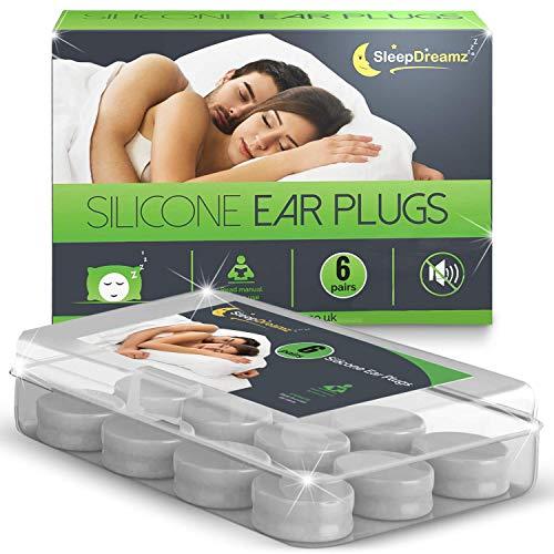 Tapones oidos dormir SleepDreamz (6 pares) - Tapones oidos ruido, diseñados para proteger contra de los ronquidos y otros sonidos fuertes, para que pueda dormir mejor!