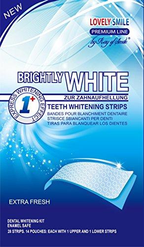Lovely Smile Bright White-Strips 28 Bandas Blanqueadoras Dientes Blanqueamiento de dientes tiras con avanzada tecnología antideslizante - Teeth Whitening Strips - by RAY OF SMILE