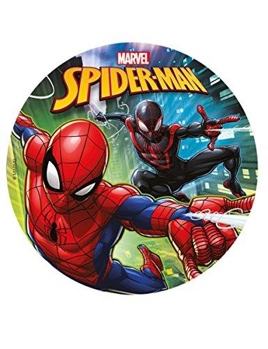 Dekora-231273 Spiderman Disco de azúcar Comestible para Decorar Tartas, Multicolor, 20 cm de diámetro (231273)