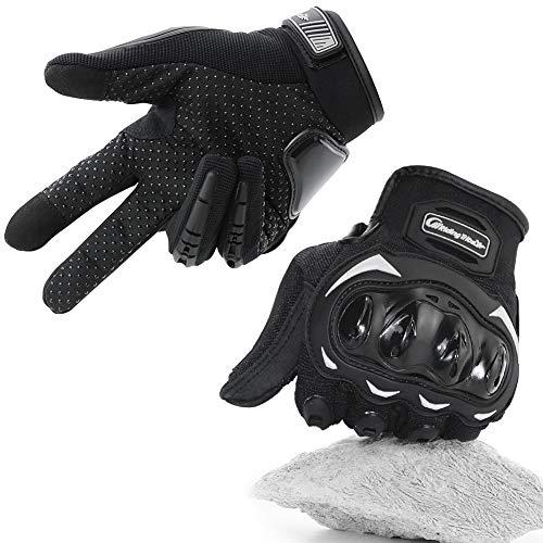 COFIT Guantes de Motos, Guantes de Pantalla Táctil Full Touch para Carreras de Motos, MTB, Escalada, Senderismo y Otros Deportes al Aire Libre - Negro XL