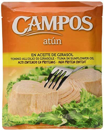 Campos, Conserva de atún en aceite de girasol, pouch/ bolsa de 500 gr.
