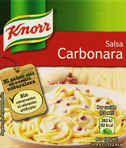 Knorr - Salsa Brick Carbonara 300 ml - , Pack de 6