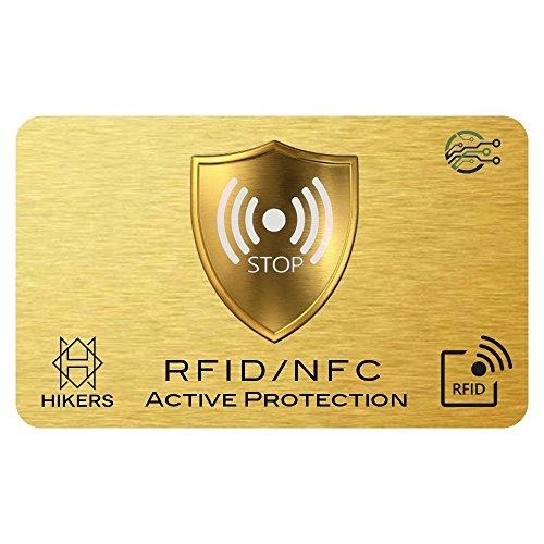 3 Tarjetas Anti RFID/NFC Protector de Tarjetas de crédito sin Contacto, 1 es Suficiente, di adiós a Las fundias, la Billetera Queda Completamente protegida. Bloqueo de Tarjeta, Protección Billetera