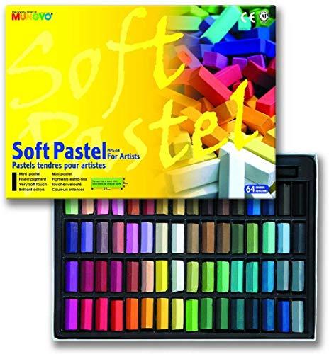 Mungyo Tiza Soft Pastel Cuadrado Conjunto De 64 Colores