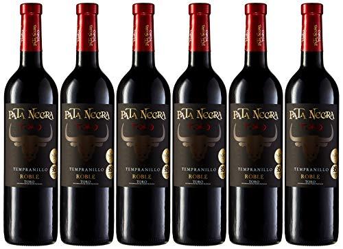 Pata Negra Vino Tinto D.O. Toro - Pack de 6 Botellas x 750 ml