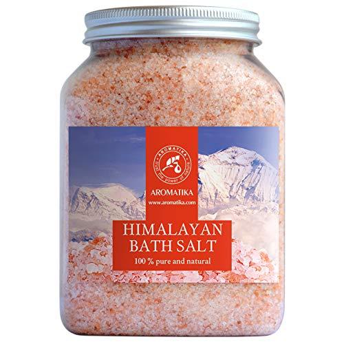 Sales de Baño Himalayan Pink 1300g - 100% Puro & Natural - Sal Himalayan - Mejor Para un Buen Sueño - Alivio del Estrés - Baño - Belleza - Relajante