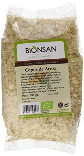 Bionsan Copos de Arroz Ecológicos - 6 Bolsas de 500 gr - Total: 3000 gr