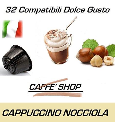 Cápsulas compatibles con Nescafè Dolce Gusto, 32 Cápsulas Mezcla 'Cappuccino alla Nocciola - Cappuccino Avellana'