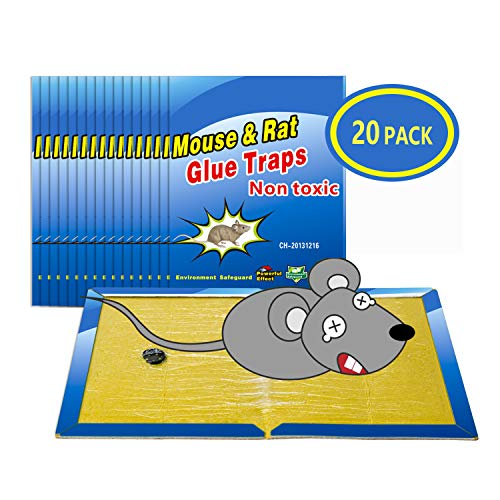 Wemk Trampas para Ratones 20 Piezas Almohadilla Pegajosa de Ratón Colector de Ratón Control de Ratones Súper Pegajoso 8'x12'
