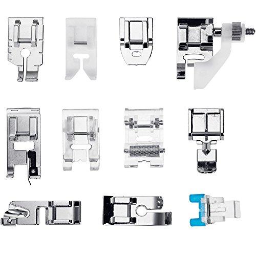 Faburo 11 Piezas Prensatelas Accesorios para Máquina de coser
