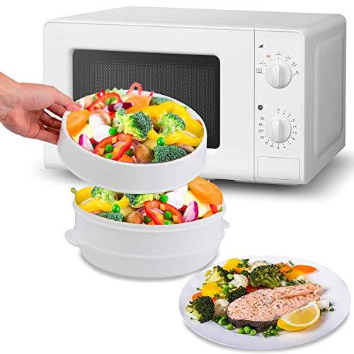MovilCom - Olla a vapor 2 niveles Microvap   cocinar al vapor   vaporera microondas