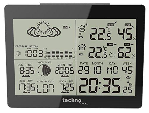 Technoline GARNI WS 6760 estación metereológica - Estación meteorológica (Negro, Color Blanco, 14,700 cm, 10,900 cm, 4,500 cm)