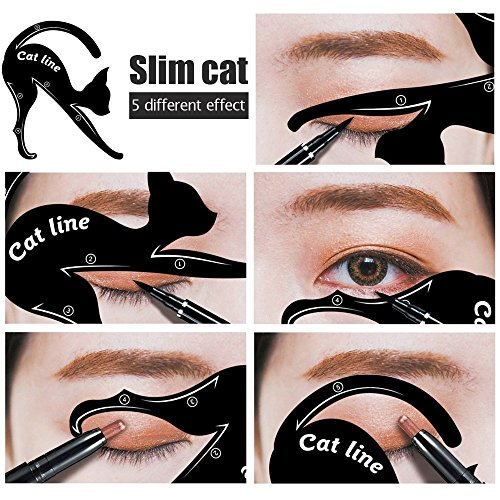 Modelo de Cat Eyeliner 10 Styles para el Blissany, Cat ojos, ojos Stencil, Double Wing, Extravagant Cat, Arabic Eyeliner
