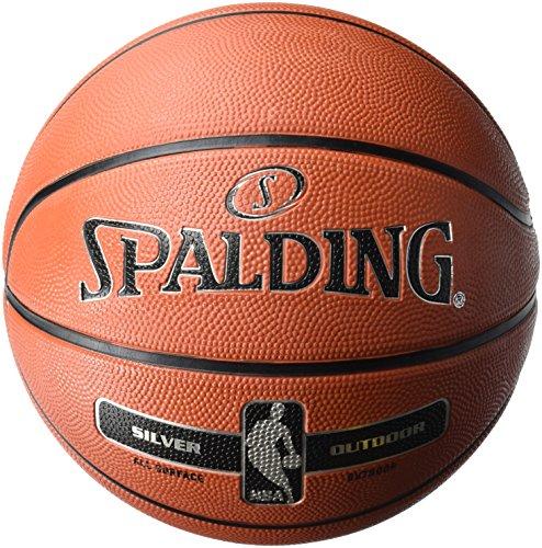 Spalding NBA Silver Outdoor 65-887Z Balón de Baloncesto, Unisex, Naranja, 3